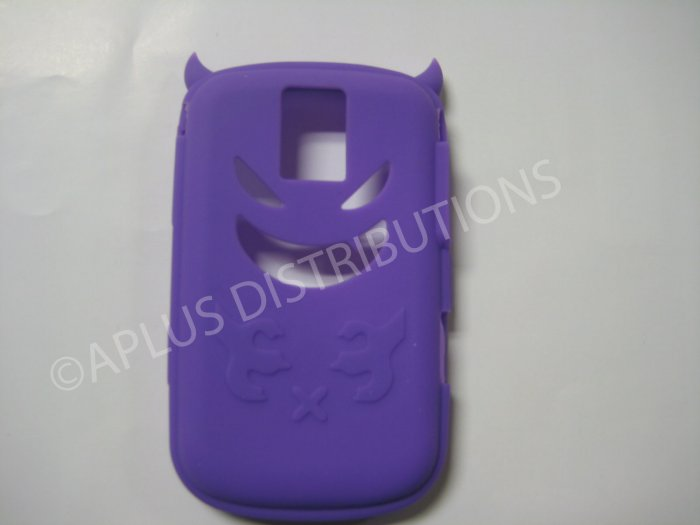 New Purple Devil Design Silicone Cover For Blackberry 9000 - (0018)