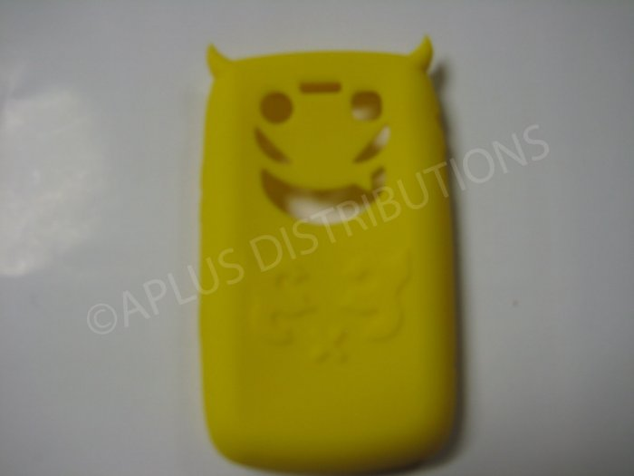 New Yellow Devil Design Silicone Cover For Blackberry 9700 - (0194)