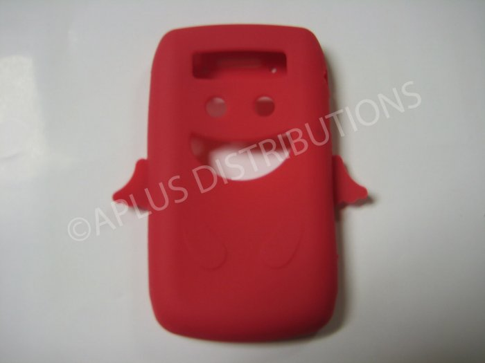 New Red Angel Design Silicone Cover For Blackberry 9700 - (0025)