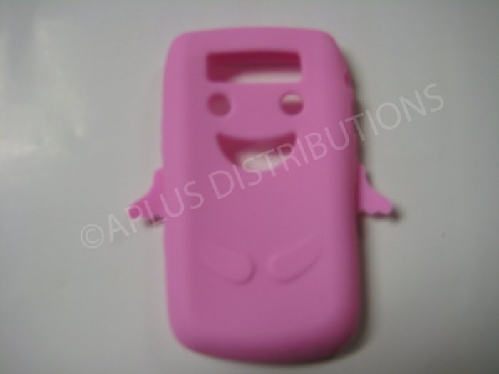 New Pink Angel Design Silicone Cover For Blackberry 9700 - (0026)