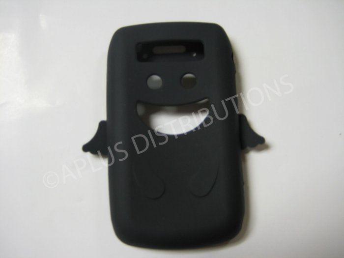 New Black Angel Design Silicone Cover For Blackberry 9700 - (0027)