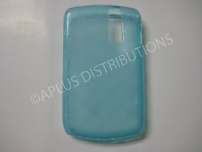 New Light Blue Transparent Multi-Circles TPU Cover For Blackberry 8300 - (0043)