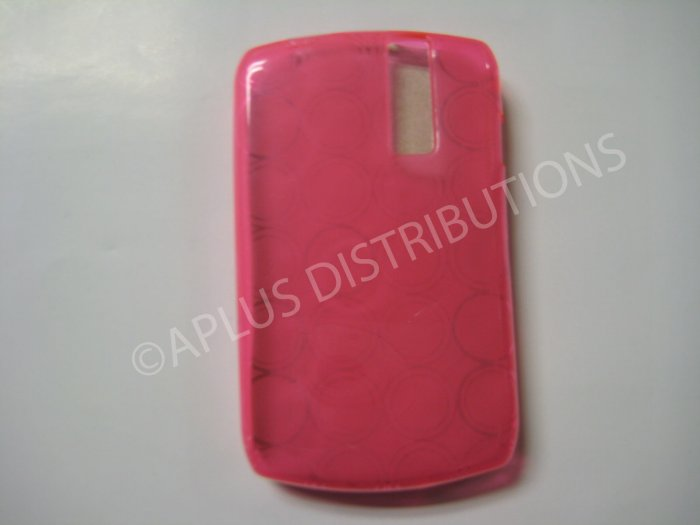 New Pink Transparent Multi-Circles TPU Cover For Blackberry 8300 - (0036)