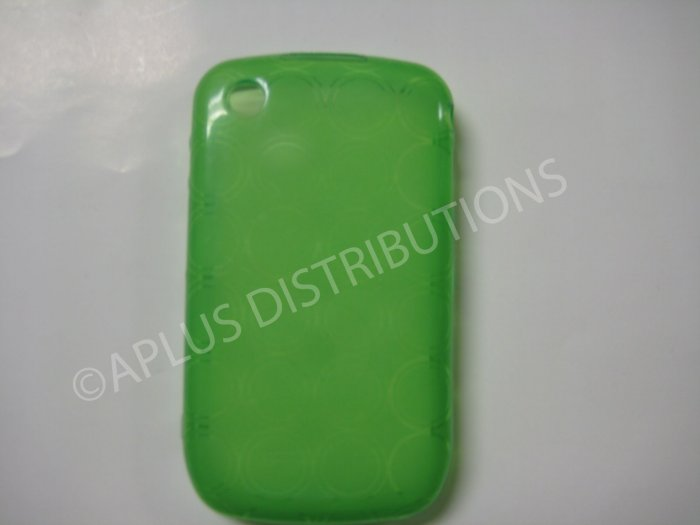 New Green Transparent Multi-Circles TPU Cover For Blackberry 8520 - (0035)