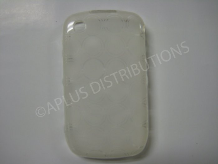 New Clear Transparent Multi-Circles TPU Cover For Blackberry 8520 - (0038)