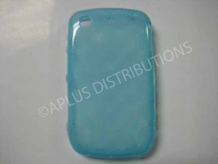 New Light Blue Transparent Multi-Circles TPU Cover For Blackberry 8520 - (0043)