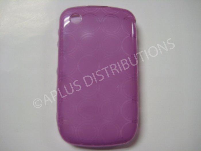 New Purple Transparent Multi-Circles TPU Cover For Blackberry 8520 - (0098)