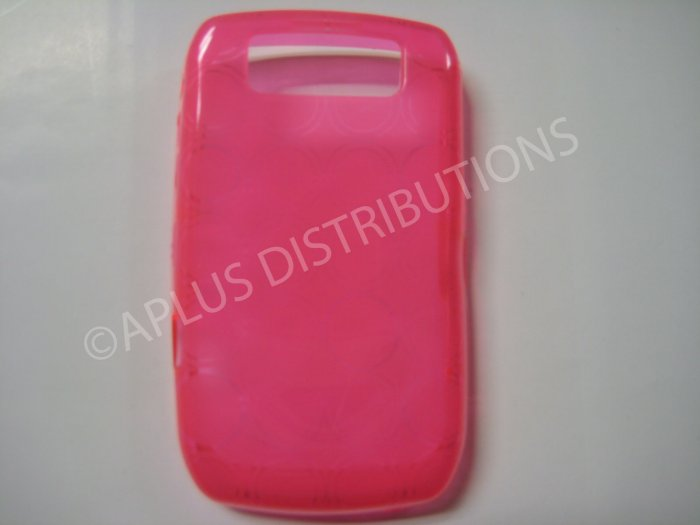 New Pink Transparent Multi-Circles TPU Cover For Blackberry 8900 - (0036)