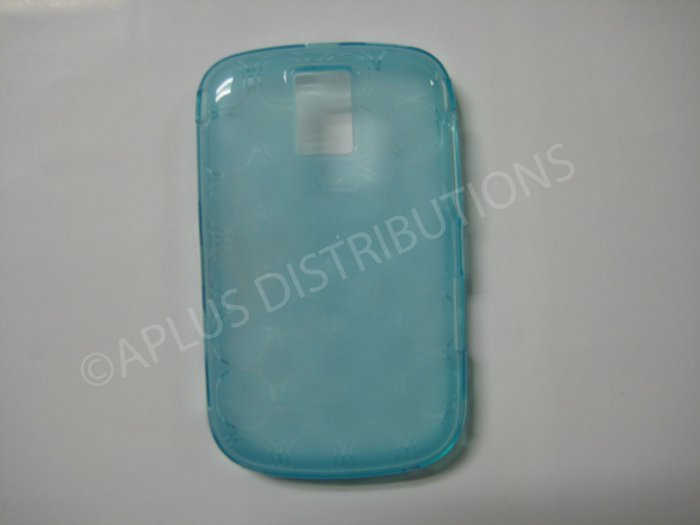 New Light Blue Transparent Multi-Circles TPU Cover For Blackberry 9000 - (0043)