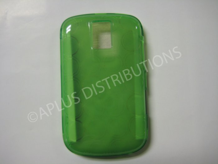 New Green Transparent Multi-Circles TPU Cover For Blackberry 9000 - (0035)