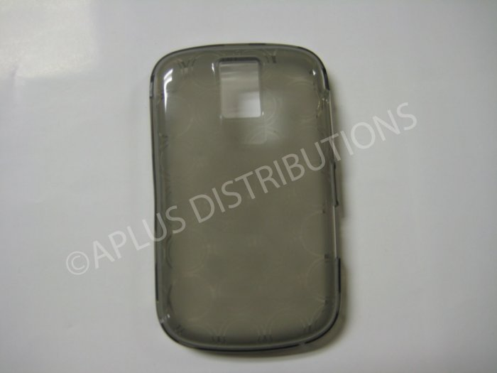 New Smoke Transparent Multi-Circles TPU Cover For Blackberry 9000 - (0040)