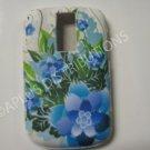 New Blue Carnation Flower TPU Cover For Blackberry 9000 - (0103)