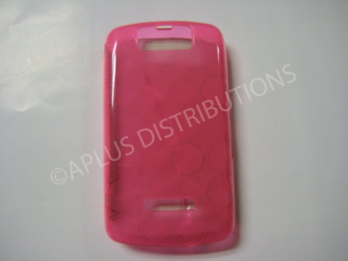 New Pink Transparent Multi-Circles TPU Cover For Blackberry 9500 - (0036)