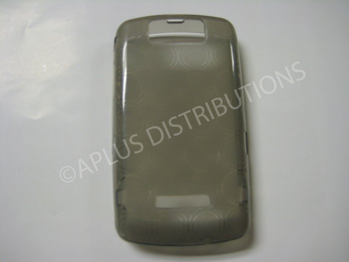 New Smoke Transparent Multi-Circles TPU Cover For Blackberry 9500 - (0040)