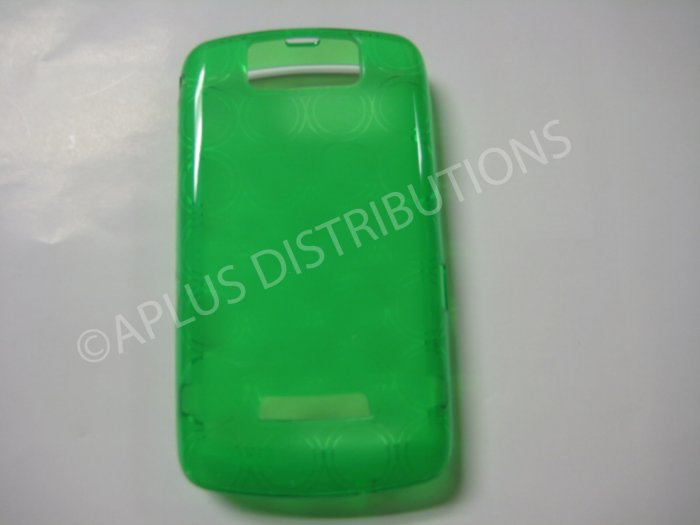 New Green Transparent Multi-Circles TPU Cover For Blackberry 9500 - (0035)