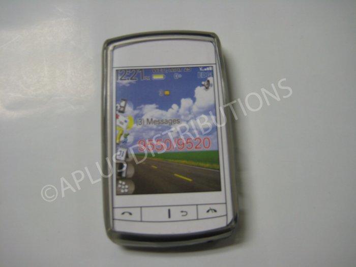 New Smoke Transparent Multi-Circles TPU Cover For Blackberry 9550 - (0040)