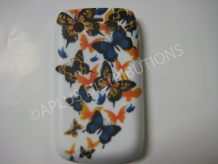 New Orange Butterfly Series TPU Cover For Blackberry 9700 - (0032)