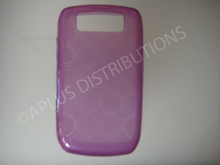 New Purple Transparent Multi-Circles TPU Cover For Blackberry 8900 - (0098)