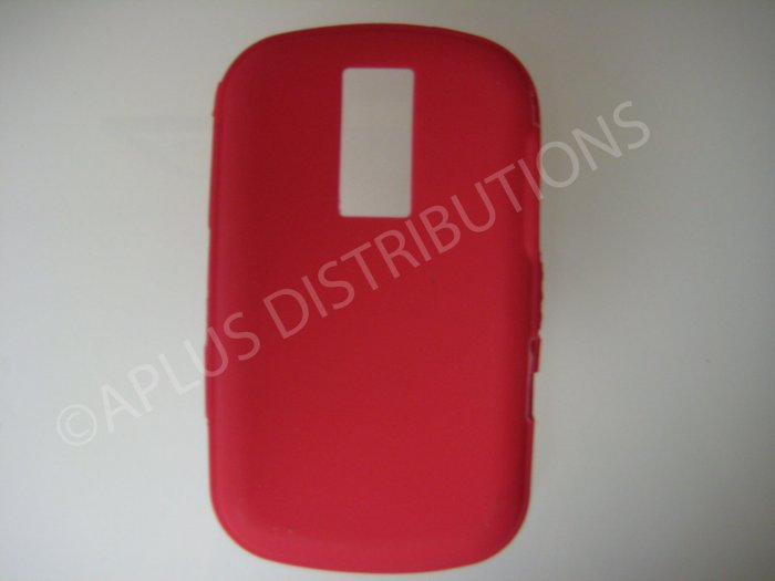 New Red Solid Color Silicone Cover For Blackberry 9000 - (0155)
