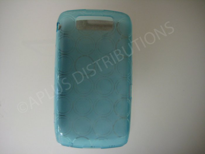 New Light Blue Transparent Multi-Circles TPU Cover For Blackberry 9550 - (0043)