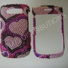 New Pink Double Hearts Bling Diamond Case For Blackberry 9700 - (0115)