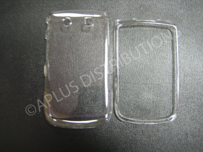 New Clear Transparent Color Design Hard Protective Cover For Blackberry 9800 - (0145)