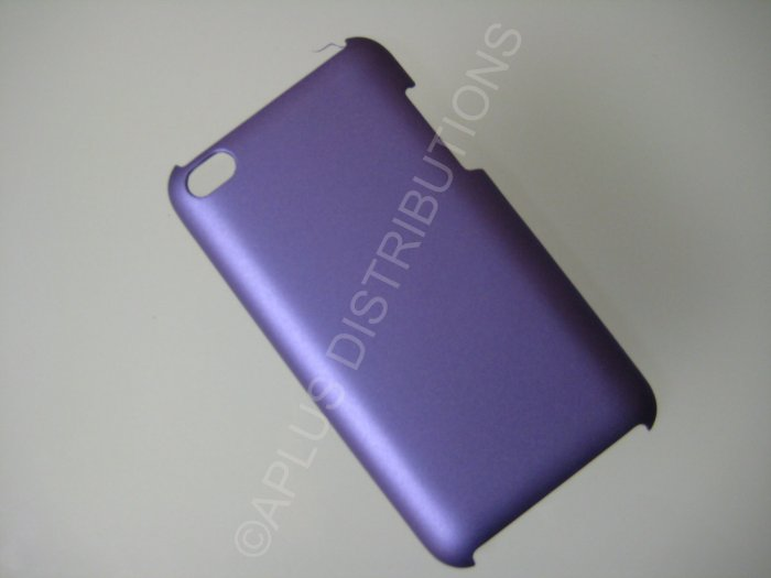 NEW Hard Protective Case For 4TH GENERATION SOLID HARD COVER IPOD TOUCH- PURPLE