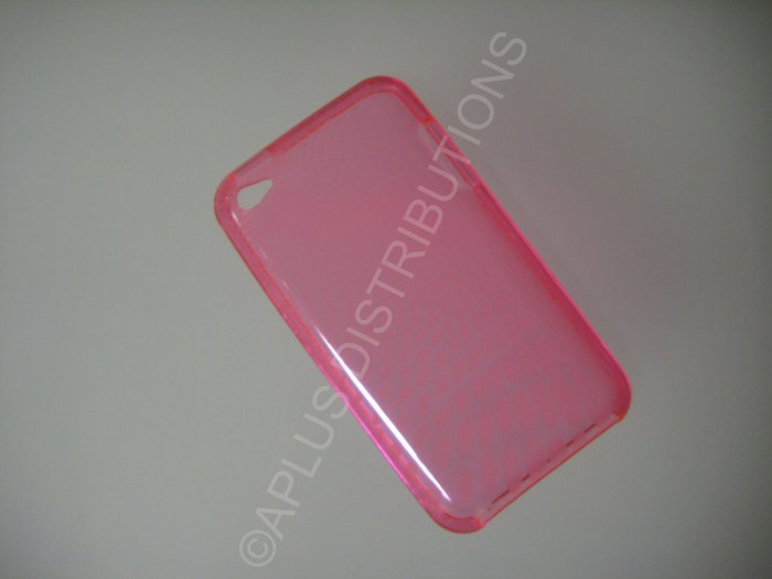 NEW Hard Protective Case For 2ND 3RD GENERATION SOLID TRANSPARENT COLOR IPOD TOUCH-PINK