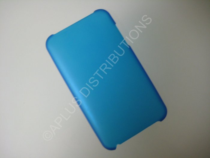 NEW Hard Protective Case For 2ND 3RD GENERATION SOLID TRANSPARENT COLOR IPOD TOUCH-BLUE