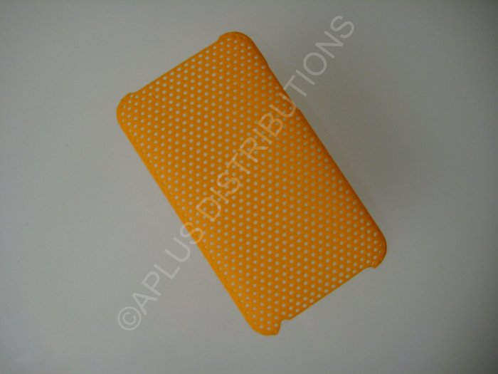 NEW Hard Protective Case For 2ND 3RD GENERATION SOLID LATTICE PATTERN IPOD TOUCH-ORANGE