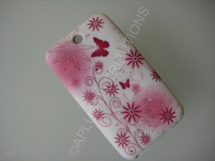 NEW FOR IPOD TOUCH 2ND & 3RD GENERATION BUTTERFLY WITH FLOWER-RED