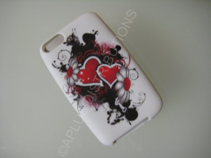 NEW FOR IPOD TOUCH 2ND & 3RD GENERATION BEATING HEART-RED/BLACK