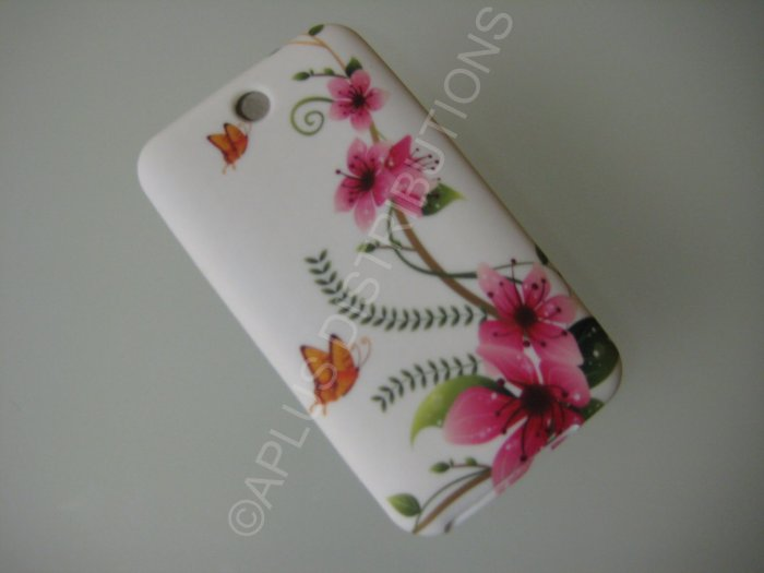 NEW FOR IPOD TOUCH 2ND & 3RD GENERATION SMALL BUTTERFLY WITH FLOWER-WHITE