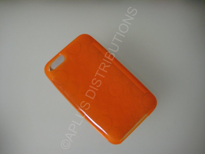 NEW FOR IPOD TOUCH 2ND & 3RD GENERATION TRANSPARENT MULTI-CIRCLES-ORANGE