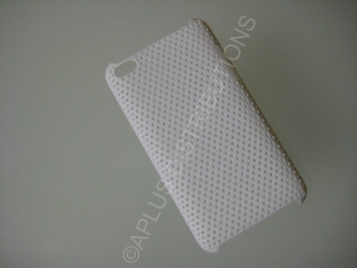 NEW Hard Protective Case For 4TH GENERATION LATTICE PATTERN HARD COVER IPOD TOUCH- WHITE