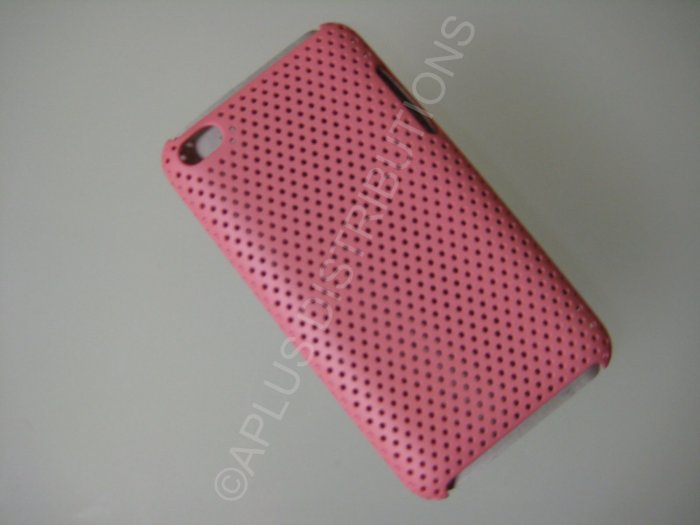 NEW Hard Protective Case For 4TH GENERATION LATTICE PATTERN HARD COVER IPOD TOUCH- PINK