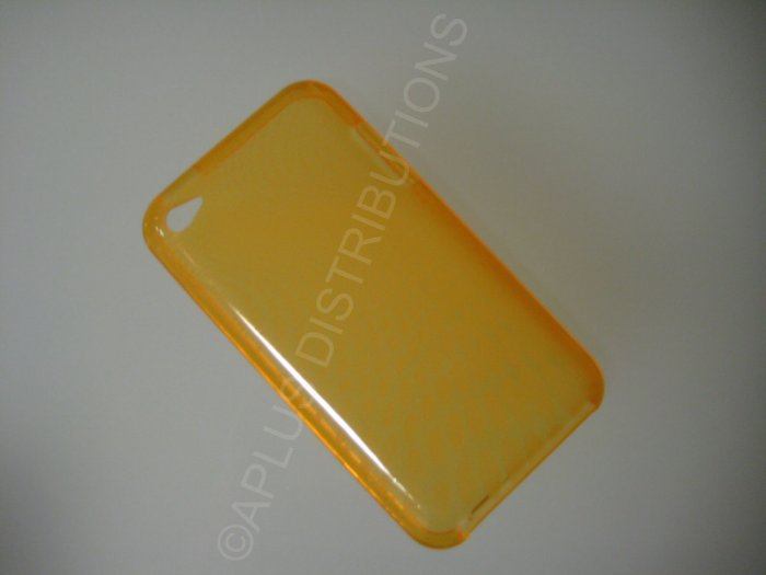 NEW FOR IPOD TOUCH 4TH GENERATION TRANSPARENT SWIRL ROUNDLETS-ORANGE