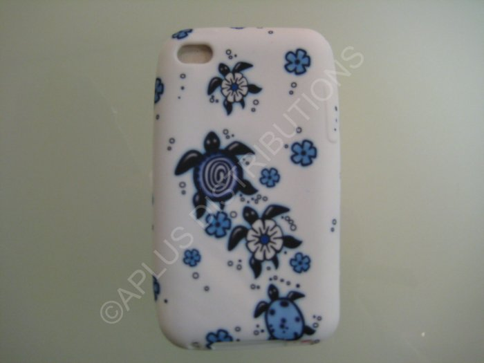 NEW FOR IPOD TOUCH 4TH GENERATION HAWAIIAN TURTLE-BLUE/WHITE