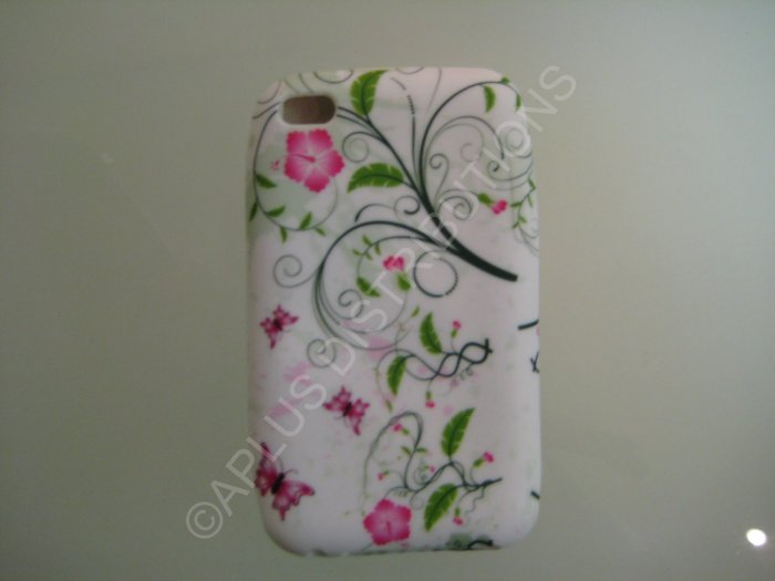 NEW FOR IPOD TOUCH 4TH GENERATION BUTTERFLIES SWIRL-GREEN/PINK
