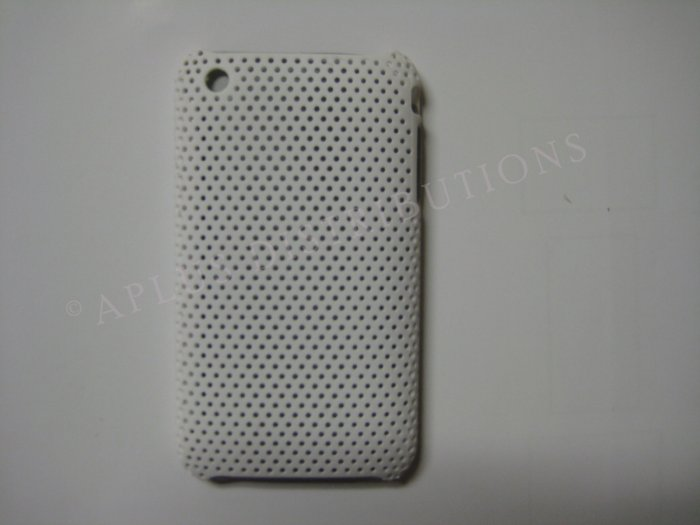 New White Lattice Pattern Hard Protective Cover For iPhone 3G 3GS - (0013)