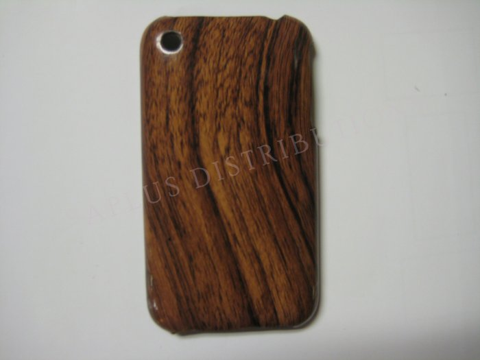 New Dark Brown Wood Grain Design Hard Protective Cover For iPhone 3G 3GS - (0012)