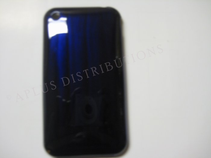 New Dark Blue Metallic Paint Pattern Hard Protective Cover For iPhone 3G 3GS - (0008)