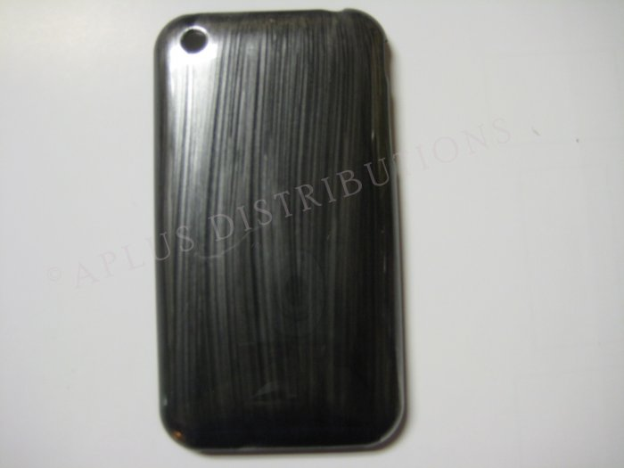 New Silver Metallic Paint Pattern Hard Protective Cover For iPhone 3G 3GS - (0010)