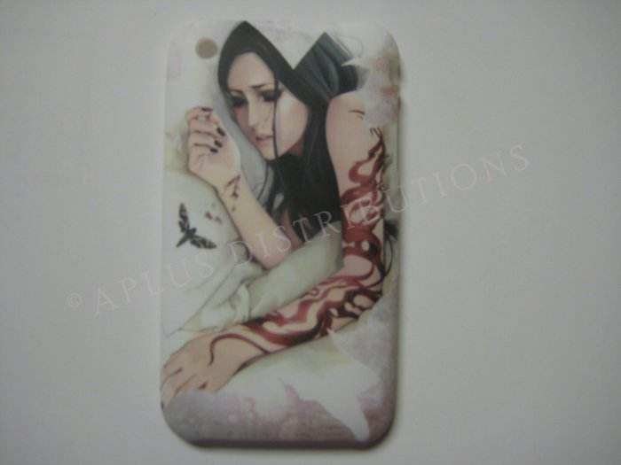 New White Gothic Girl Sleeping Design Hard Protective Cover For iPhone 3G 3GS - (0038)