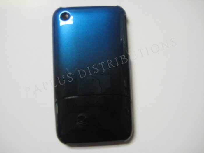 New Dark Blue Metallic Slider Design Hard Protective Cover For iPhone 3G 3GS - (0105)
