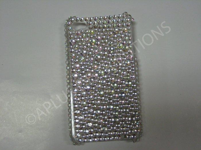 New White Multi-Diamonds Design Crystal Bling Diamond Case For iPhone 4 - (0033)