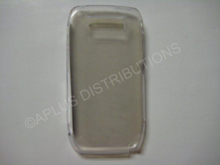New Clear Transparent Microsquares TPU Cover For Nokia E71 - (0005)