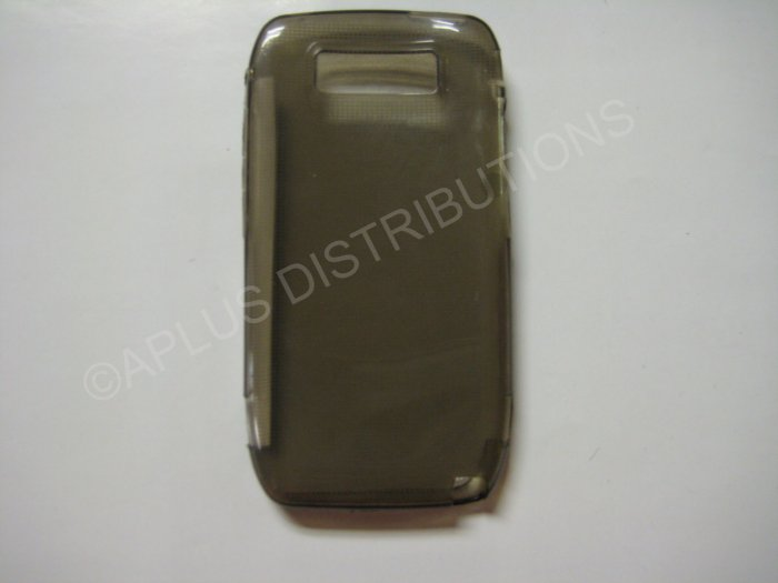New Smoke Transparent Microsquares TPU Cover For Nokia E71 - (0006)
