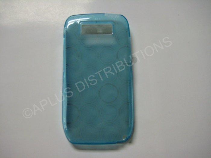 New Blue Transparent Multi-Circles TPU Cover For Nokia E71 - (0004)