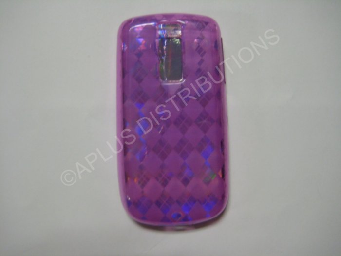 """New Purple Plaid Print TPU Cover For Htc My Touch """"G2"""" - (0017)"""